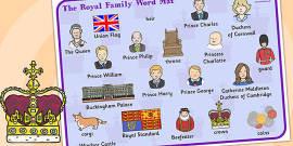 Royal Family Word Mat