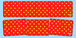 Red with Yellow Stars Editable Display Banner