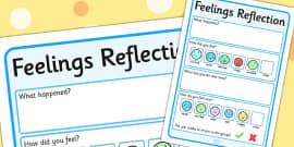Feelings Reflection Writing Frame