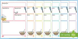 Recipe Template | Editable Recipe Template Recipe Cooking Baking Recipe