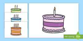0-10 Birthday Cakes Display Cut-Outs