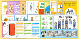 Year 1 English Working Wall Display Pack