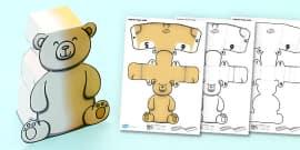 3D Teddy Bear Activity