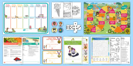 t-a-440-free-holiday-taster-resource-pack_ver_1 O Clock Worksheet Eyfs on filling minutes, office hours time, blank face template, telling time, reading digital, learning time, for class 2, first grade,