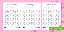 Black and White Valentinstag Gutscheine Schreibvorlage