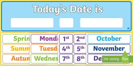 Today's Date Display Pack