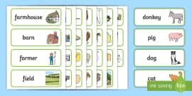Farm Word Cards
