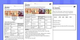 Tom's Midnight Garden Story Matrix Activity Sheets
