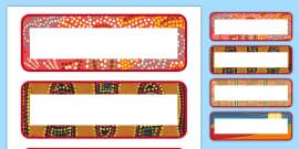 Aboriginal Page Borders - Australia