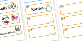 Lion Themed Editable Additional Resource Labels