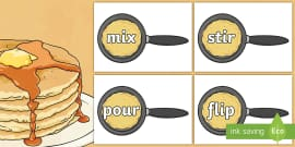 Imperative Verbs on Pancakes