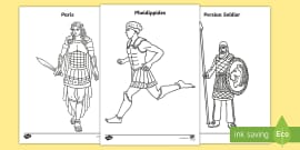 Greek Gods Colouring Pages Teacher Made