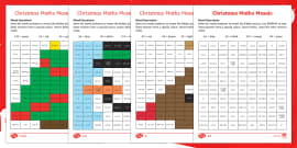 Christmas Maths (Mixed Operations) Mosaic Activity Sheets