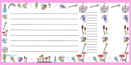 Fairy Full Page Borders (Landscape)