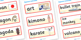 Japanese Word Cards