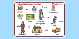 Little Red Riding Hood Word Mat