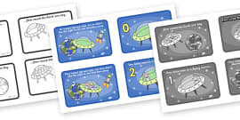 Five Little Men in a Flying Saucer Sequencing (4 per A4)