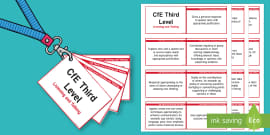 CfE Third Level Listening and Talking Lanyard-Sized Benchmarks