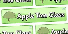 Apple Tree Themed Classroom Display Banner