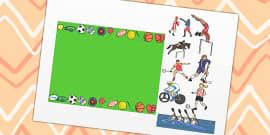 Football Page Borders Foot Ball Soccer Sports Pe Writing