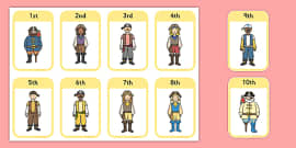 Ordinal Number Ice Cream Colouring Worksheet - number order