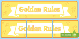picture relating to Golden Rule Printable titled Totally free! - Editable Golden Regulations Posters - Golden regulations, legal guidelines