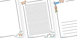 Page Borders to Support Teaching on Pig in the Pond