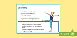 gymnastics partner balance cards teacher made