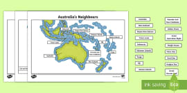 Map 8f Australia.Pacific Islands Map Poster Pacific Map