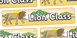 Lion Themed Classroom Display Banner
