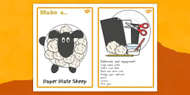Paper Plate Sheep Craft Instructions - craft, paper plate