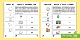 Reading 'sh' Words Card Game