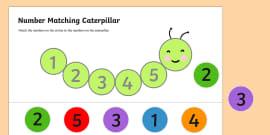 Number Matching Caterpillar Activity