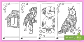 t a 441 dog themed mindfulness colouring pages ver 1
