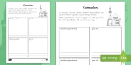 NEW * Die Säulen des Islam Arbeitsblatt - Islam, Moslem