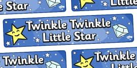 Twinkle Twinkle Little Star Display Banner