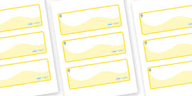 Flower Themed Editable Drawer-Peg-Name Labels (Colourful)