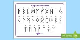 anglo saxon runes font