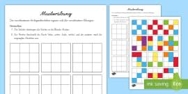 Geometrische Muster zum Fortsetzen Arbeitsblatt - Geometrie