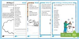 KS1 Winter Poetry Resource Pack