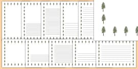 Pine Tree Themed Page Borders