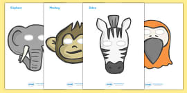 Role Play Masks to Support Teaching on Handa's Surprise