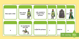 The Princess and the Pea Sentence Building Cards