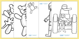 Colouring Sheets to Support Teaching on Katie Morag and the Tiresome Ted