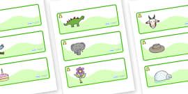 Frog Themed Editable Drawer-Peg-Name Labels