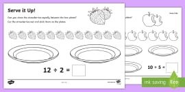 maths ks1 introducing division activity powerpoint maths. Black Bedroom Furniture Sets. Home Design Ideas