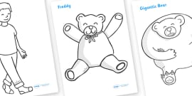 Where's My Teddy Colouring Sheets