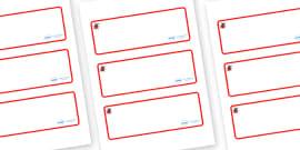 Ladybird Themed Editable Drawer-Peg-Name Labels (Blank)