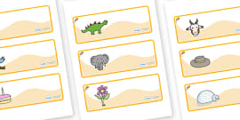 Dormouse Themed Editable Drawer-Peg-Name Labels