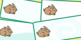 Editable Rabbit Drawer Peg Name Labels